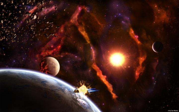 Spaceship Exploding